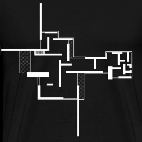 plan arches white - Men's Premium T-Shirt