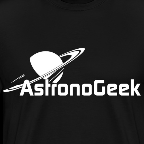 Logo AstronoGeek avec texte - T-shirt Premium Homme