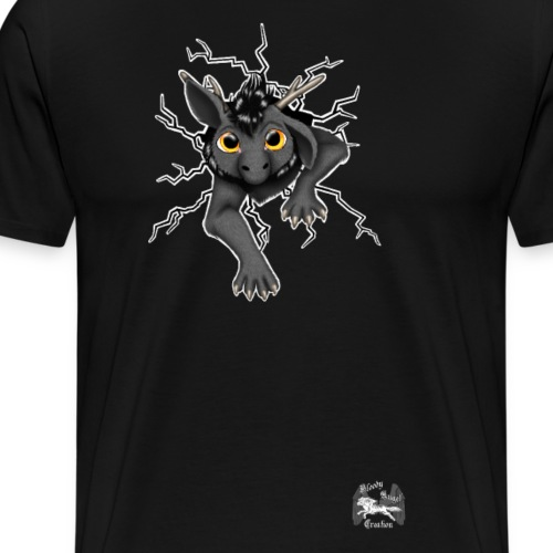 Drachi stuck grey weißlogo.png - Männer Premium T-Shirt