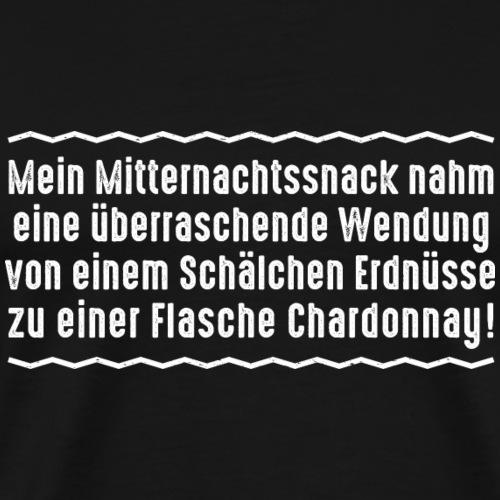 Mitternachtssnack Erdnüsse Wein til death Ehepaar - Men's Premium T-Shirt