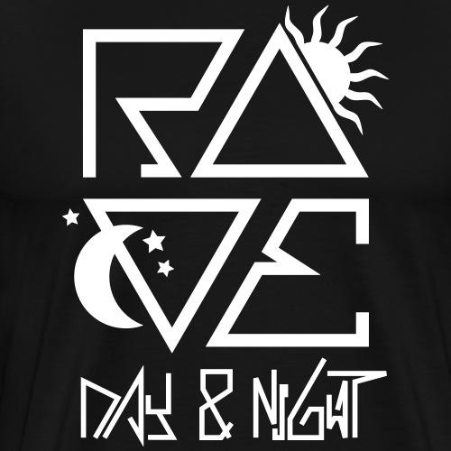 RAVE Day & Night Festival Afterhour Techno Musik - Männer Premium T-Shirt