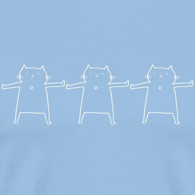 Performing Cat weiß
