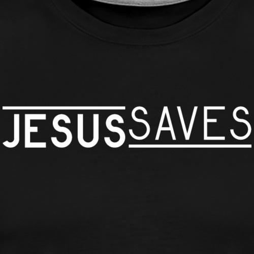 Jesus Saves - Männer Premium T-Shirt