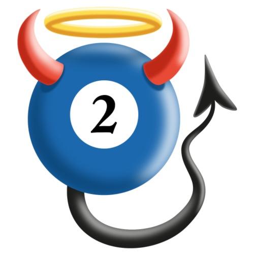 Pool Billard Kugel 2 Ball Teufel Engel Geschenk - Männer Premium T-Shirt