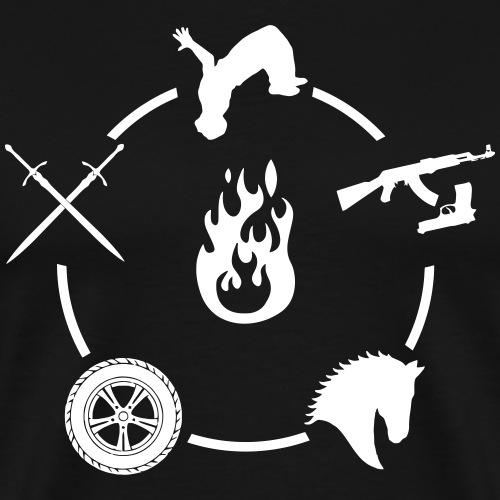 Stunt Enso Blanco - Camiseta premium hombre