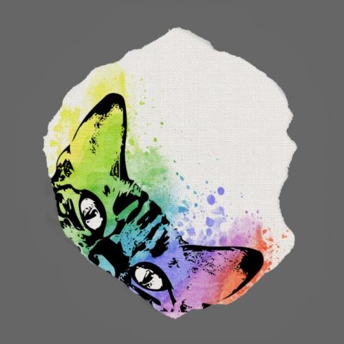 Katze Aquarell Loch - Männer Premium T-Shirt