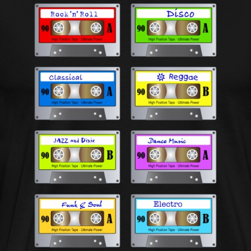 Music Cassette Tape Vintage analog Musik Retro - Men's Premium T-Shirt