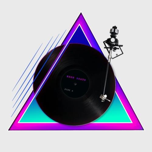 Love Vinyl Schallplatte - Retro 80er Popart - Men's Premium T-Shirt