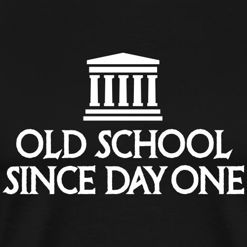 Oude school sinds dag één student van de verhaalleraar - Mannen Premium T-shirt