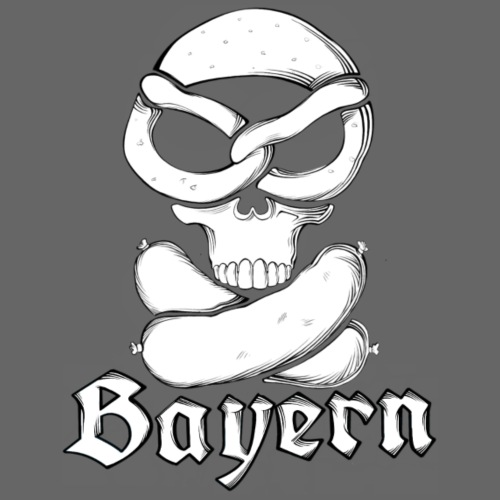 Brezen skull and weißwurscht (weißwurst) - Männer Premium T-Shirt