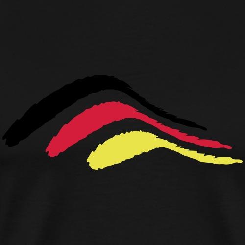 stripe bush_vec_3 de - Men's Premium T-Shirt