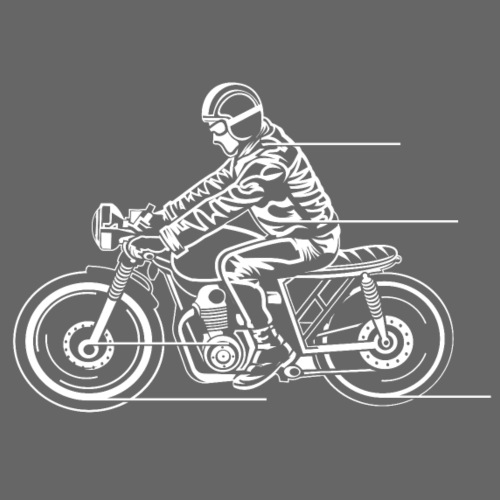Cafe Racer Motorrad 04_weiß - Männer Premium T-Shirt