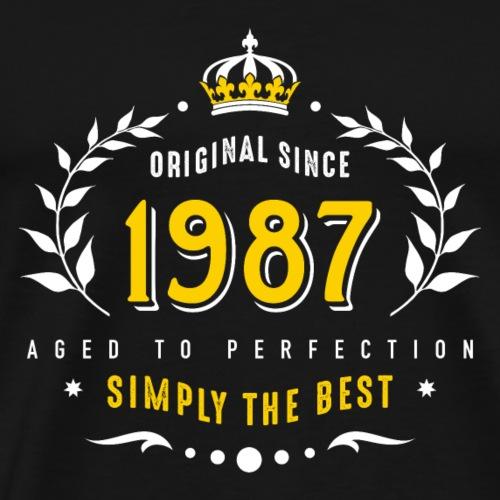 original since 1987 simply the best 30th birthday - Männer Premium T-Shirt