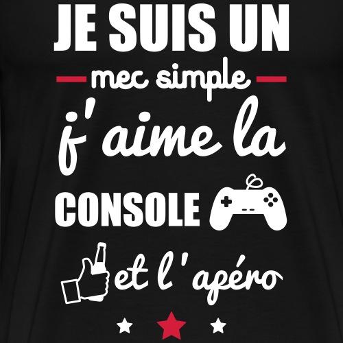 mec simple console apéro, cadeau geek, gaming - T-shirt Premium Homme