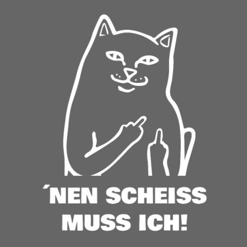 Nen Scheiss muss ich! Katze lustiger Spruch - Männer Premium T-Shirt