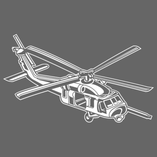 Hubschrauber / Helikopter 01_weiß - Männer Premium T-Shirt