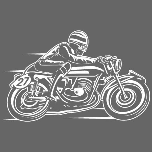 Cafe Racer Motorrad 03_weiß - Männer Premium T-Shirt