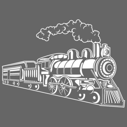 Lokomotive / Locomotive 02_weiß - Männer Premium T-Shirt