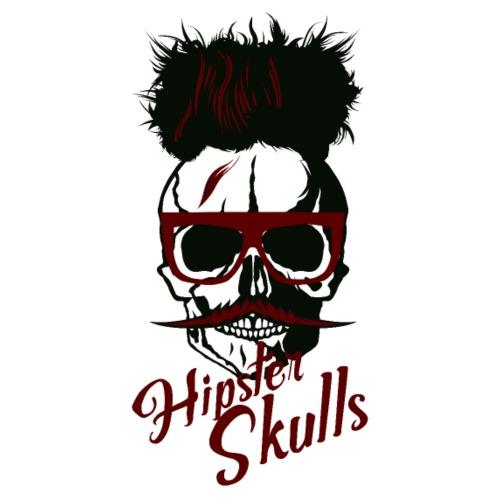 tete de mort crane hipster skull moustache moustac - T-shirt Premium Homme