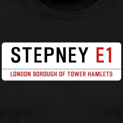 Stepney Street Sign - Men's Premium T-Shirt