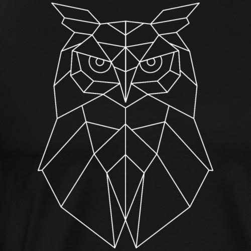 Eule Geometrisch weiss - Männer Premium T-Shirt