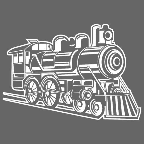 Lokomotive / Locomotive 01_weiß - Männer Premium T-Shirt