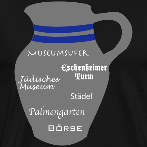 Frankfurt Sehenswürdigkeiten #FFM - Männer Premium T-Shirt