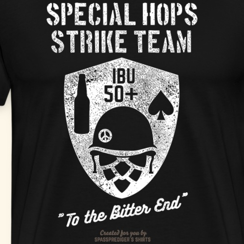 Craft Beer Fan T Shirt Special Hops Strike Team - Männer Premium T-Shirt