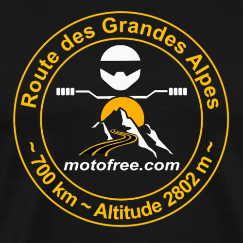 Route des Grandes Alpes Motofree (sans date) - T-shirt Premium Homme