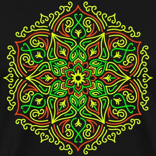 Fire Lotus Mandala - Men's Premium T-Shirt