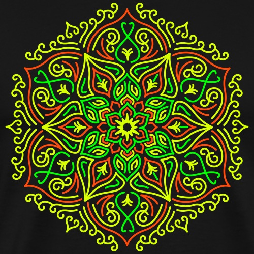 Tulipalo Lotus Mandala - Miesten premium t-paita