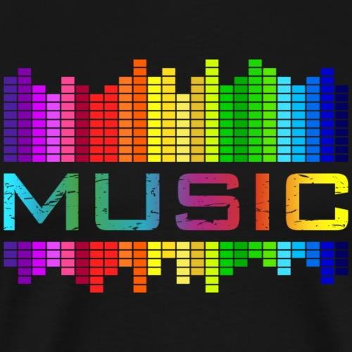music Musik Equalizer rainbow Regenbogen bunt - Men's Premium T-Shirt