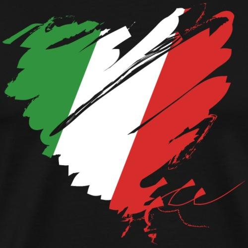Herz Cuore Italien Italy Italia calcio Football - Men's Premium T-Shirt