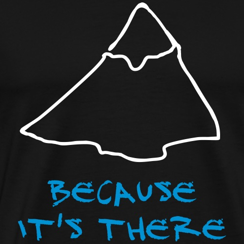 Because it's there - Mallory - Men's Premium T-Shirt