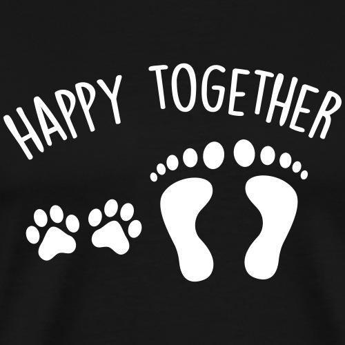 happy together dog - Men's Premium T-Shirt