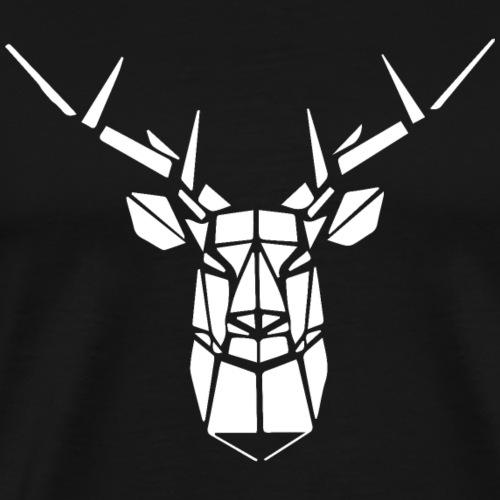 Cerfs blanc géométrique - T-shirt Premium Homme
