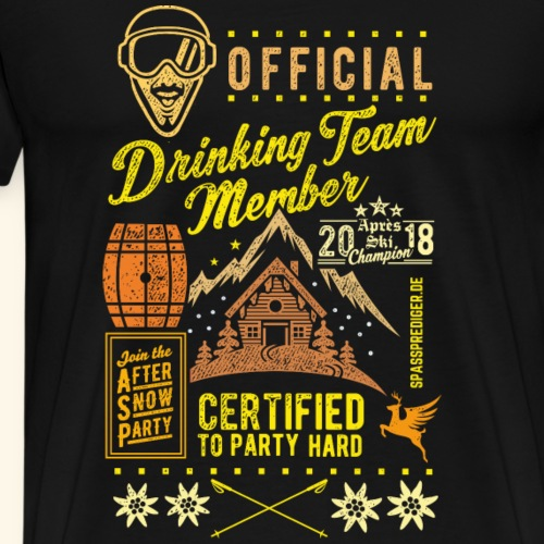 Après Ski Party T Shirt Design Drinking Team - Männer Premium T-Shirt