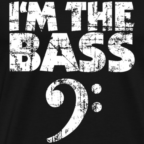 I'm the Bass Vintage White - Männer Premium T-Shirt