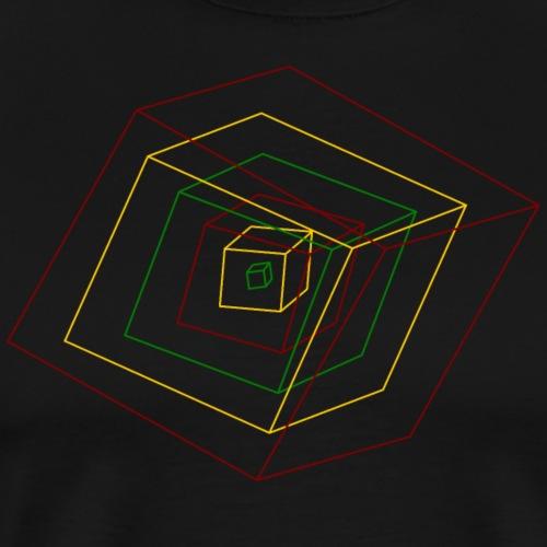 Rasta Cubes - T-shirt Premium Homme