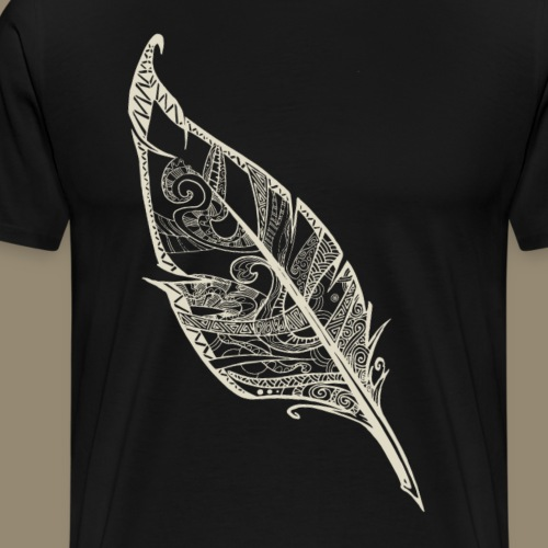 Plume blanche - T-shirt Premium Homme