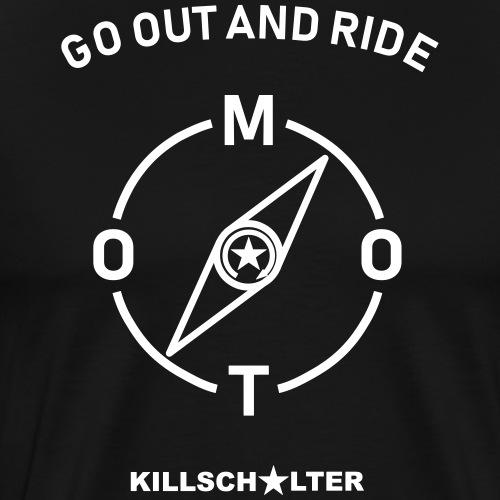 jeździć kompasem moto - Koszulka męska Premium