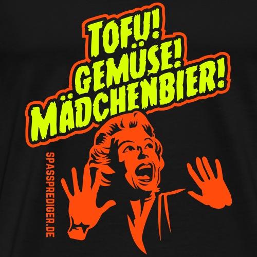 Grill T Shirt Design Tofu, Gemüse, Mädchenbier - Männer Premium T-Shirt
