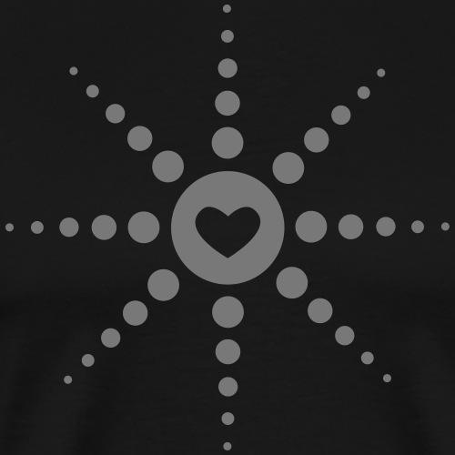 Love Herz Acid Techno Liebe Berlin Rave Festivals - Männer Premium T-Shirt