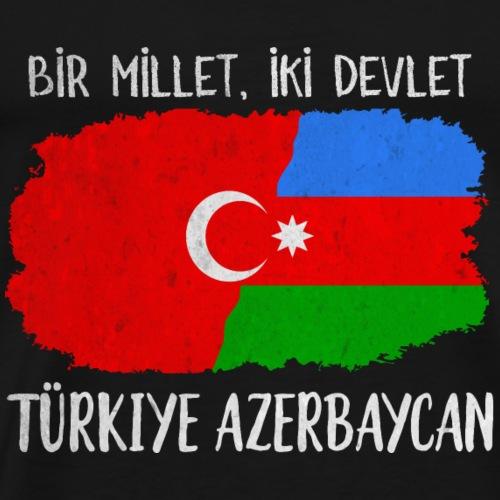 Bir Millet,iki Devlet Türkiye Azerbaycan - Männer Premium T-Shirt