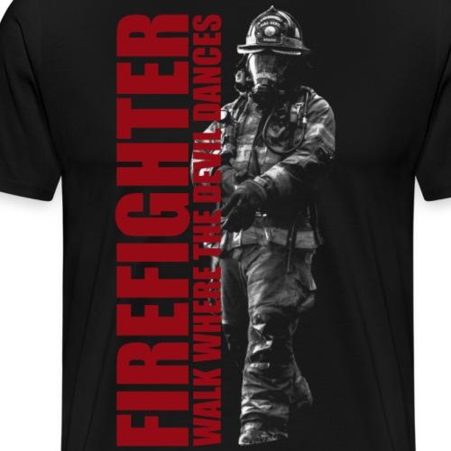 Firefighter Feuerwehrmann Einsatz Spruch Geschenk - Männer Premium T-Shirt