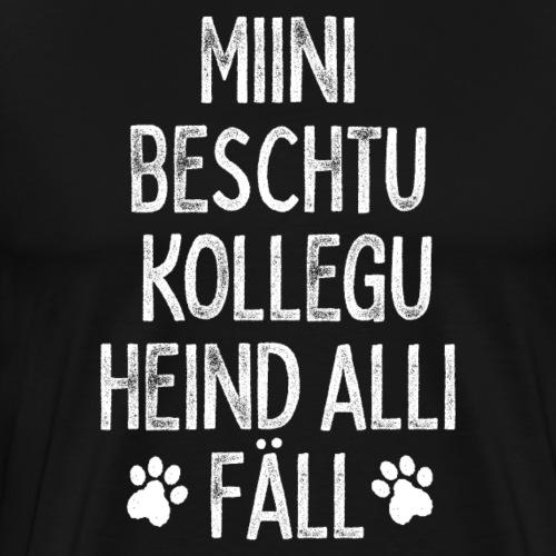 MIINI BESCHTU KOLLEGU HEIND ALLI FÄLL - Männer Premium T-Shirt