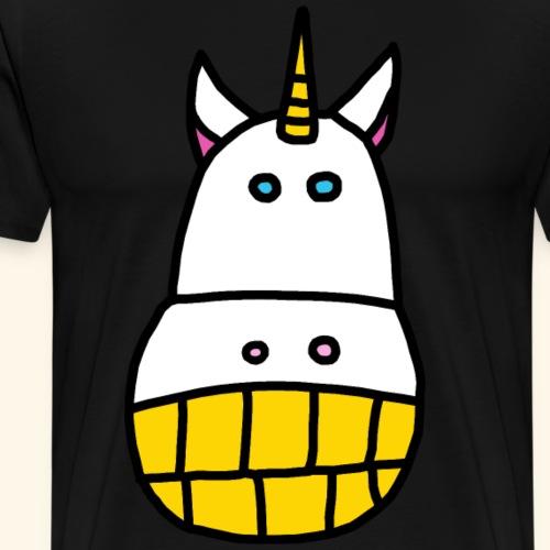 Ugly Unicorn Einhorn Cow Kuh Pferd - Männer Premium T-Shirt