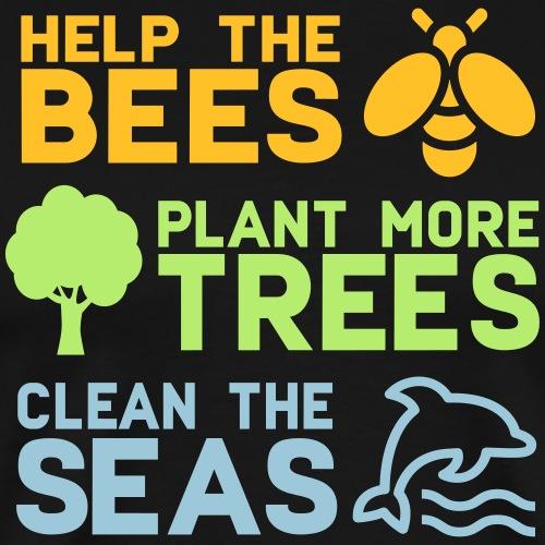 Help the Bees Plant More Trees Hilf den Bienen - Männer Premium T-Shirt