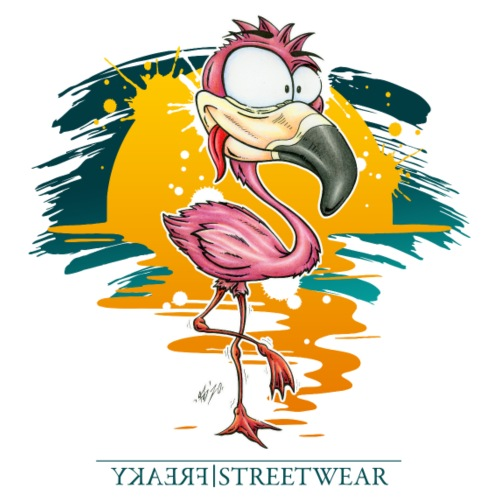 Flamingo Weirdo - Männer Premium T-Shirt