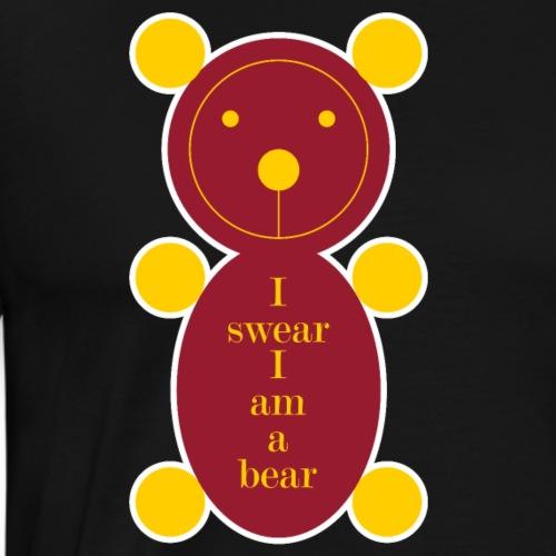 I swear I am a bear 001 - Mannen Premium T-shirt